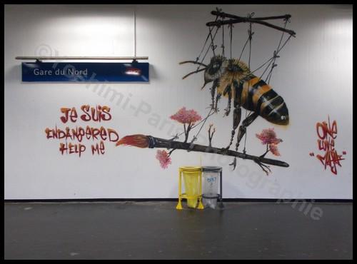 Graff gare Paris - Quai 36