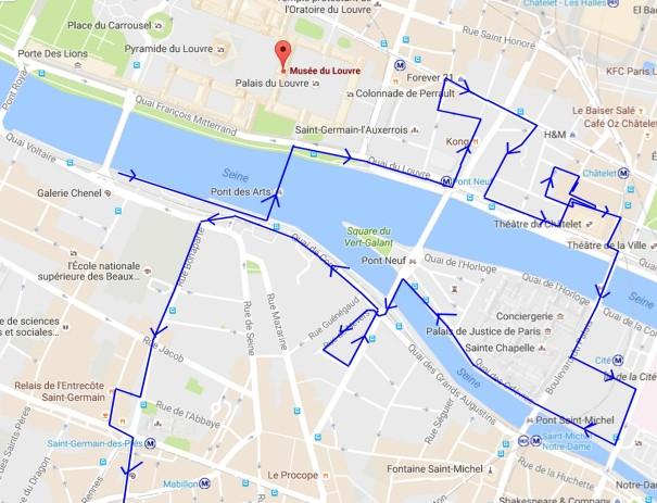 itineraire promenade quartier saint germain l'auxerrois